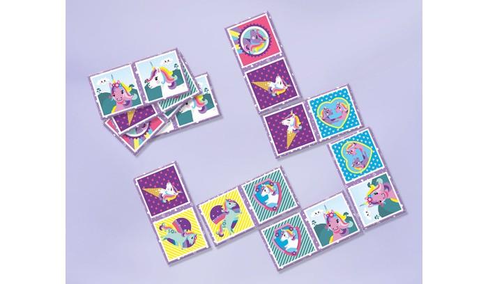 Игры для малышей Totum Игра Карточки Единороги Domino game 32 шт.