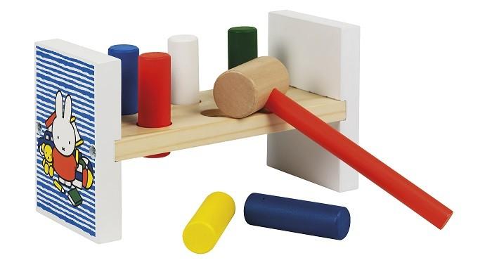 Деревянные игрушки Totum Miffy Блок с колышками и молотком недорого