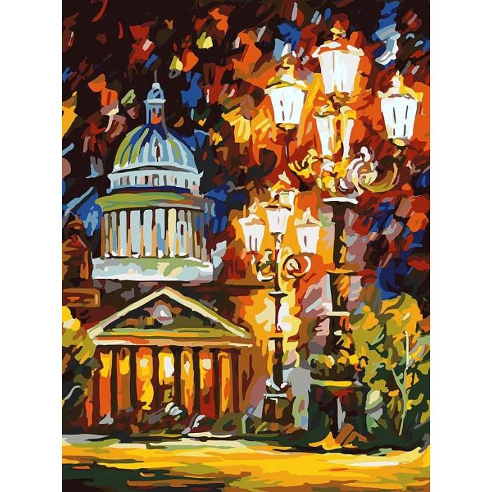 Картины по номерам Белоснежка Картина по номерам на холсте Мерцание ночи Санкт-Петербурга 40х30 см