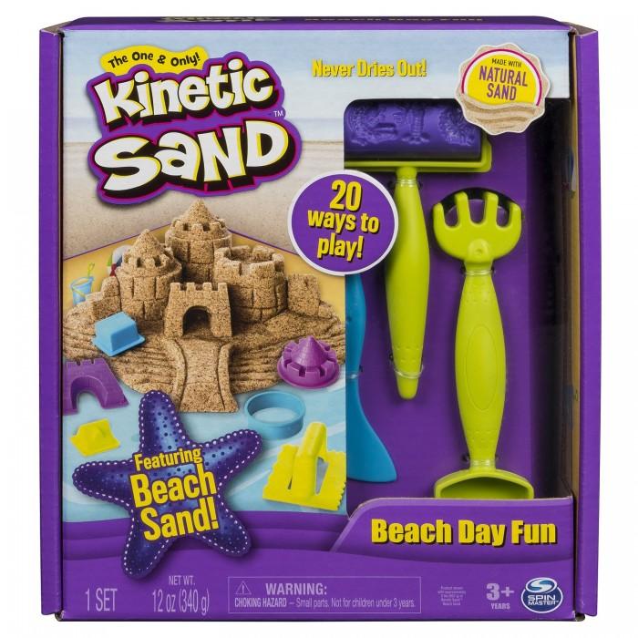 Кинетический песок Kinetic Sand Кинетический песок набор для лепки Веселая пляжная игра
