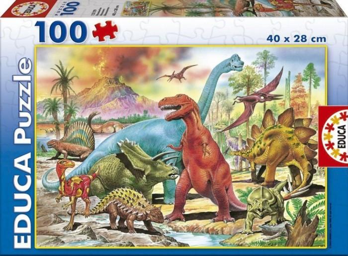 Пазлы Educa Пазл Динозавры 100 деталей пазлы educa пазл животные от 12 мес