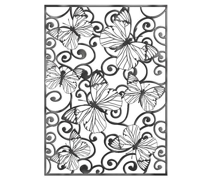 Наборы для творчества Fancy Creative Трафарет для тиснения Бабочки металл A6 стилус polar pp001