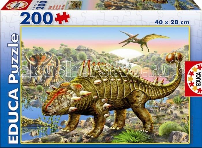 Пазлы Educa Пазл Динозавры 200 деталей пазлы educa пазл 200 деталей человек паук