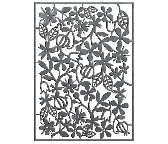 Наборы для творчества Fancy Creative Трафарет для тиснения Цветы-1 металл A6 стилус