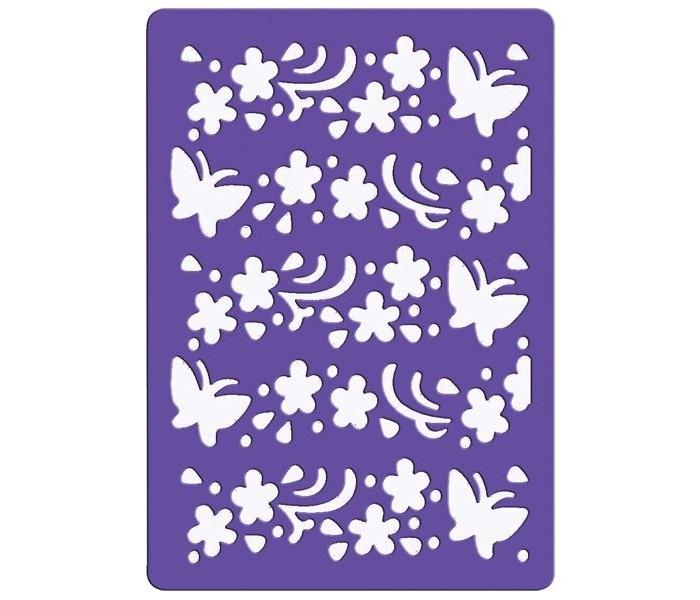 Наборы для творчества Fancy Creative Трафарет для тиснения Бабочки пластик A6 стилус