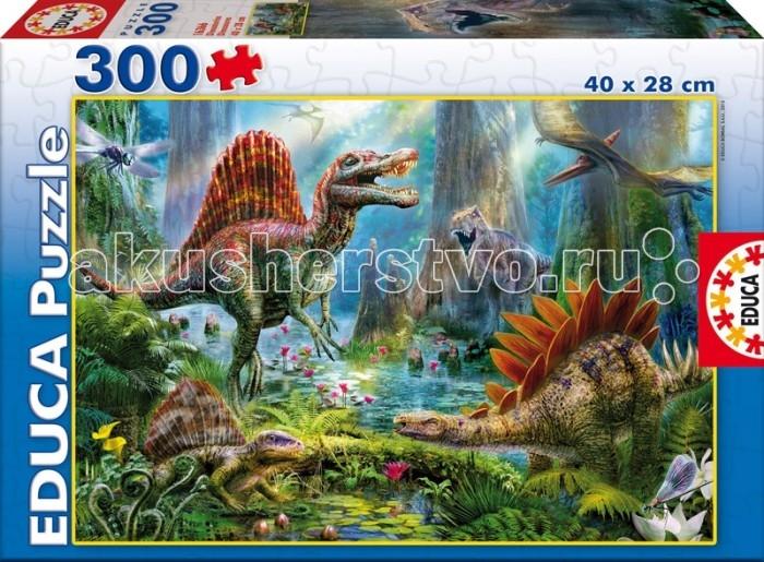 Пазлы Educa Пазл Динозавры 300 деталей educa пазл пекарня
