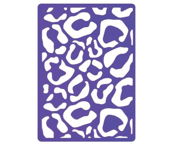Наборы для творчества Fancy Creative Трафарет для тиснения Леопард пластик A6 стилус