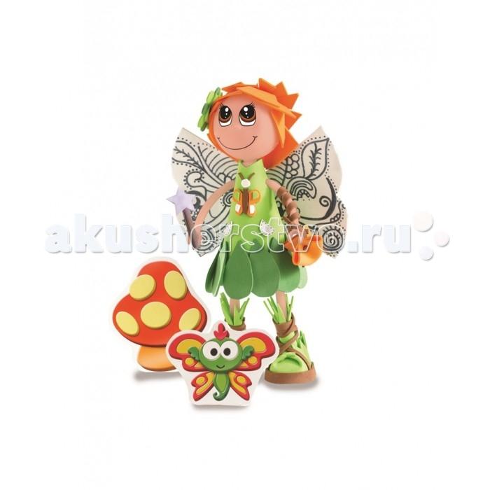 Educa Фофуча Пикси набор для творчества в виде куклыФофуча Пикси набор для творчества в виде куклыФофуча Пикси набор для творчества в виде куклы.  Слово Фофуча пришло из Бразилии и означает «милая и симпатичная», так же называются и эти привлекательные куколки с длинными ногами и круглыми головами. Каждая Fofucha (Фофуча) так же уникальна, как и человек, её создавший.   Набор для творчества детская игрушка в виде куклы в разобранном виде, в комплект входит: сборное пластиковое тело, бархатная бумага разных цветов, двухсторонний скотч, схемы, картонные детали, самоклеящиеся глаза и рот, инструкция.   Состав: картон, бумага, пластик, этилен винил ацетат, полимерный материал. Игрушка предназначена для детей от 6 лет. Отделите части тела куклы от сетки.   Вырежьте обведённые деталии. Используйте достаточное количество двустороннего скотча, чтобы детали лучше держались. Придайте деталям нужную форму вручную, или с помощью каких-либо цилиндрических предметов.   Сделайте свои собственные аксессуары из оставшегося материала.   Приклейте глаза и рот, используя маркировку на лице куколки.<br>