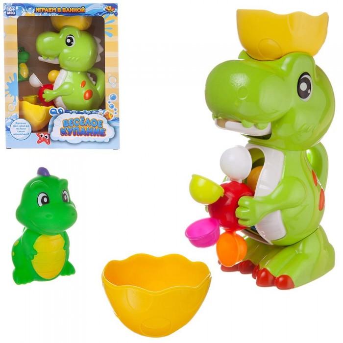 Игрушки для ванны ABtoys Игровой набор Веселое купание Динозавр-фонтан с динозавриком