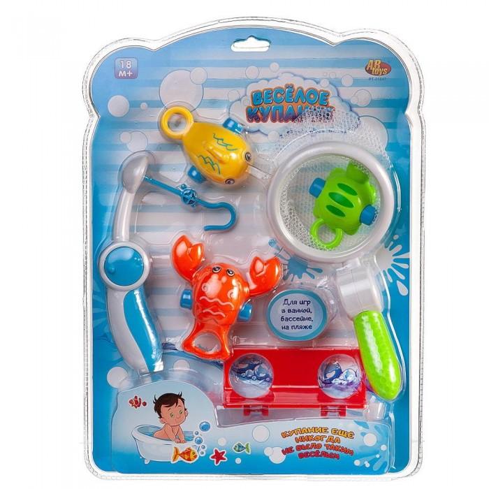 Игрушки для ванны ABtoys Игровой набор Веселое купание Рыбалка удочка