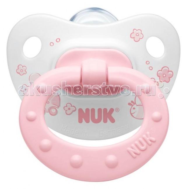 Пустышки Nuk ортодонтическая силиконовая Baby Rose размер 1 (0-6 мес.) пустышки nuk ортодонтическая латексная baby rose размер 1 0 6 мес