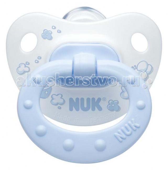 Пустышки Nuk ортодонтическая силиконовая Baby Blue, размер 1 (0-6 мес.) bebe confort пустышки латексные classic dummies 6 12 мес 2 шт