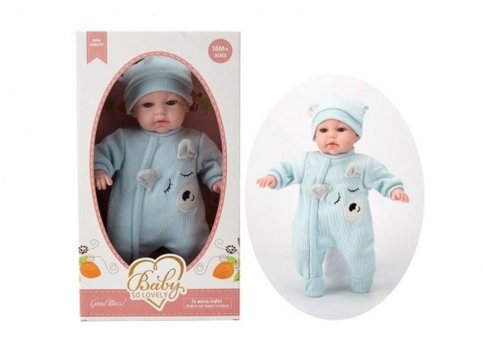 Junfa Кукла Baby So Lovely пупс в костюмчике и шапочке 35 см