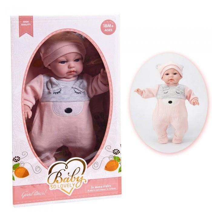 Junfa Кукла Baby So Lovely пупс в костюмчике и шапочке 35 см 1909-3