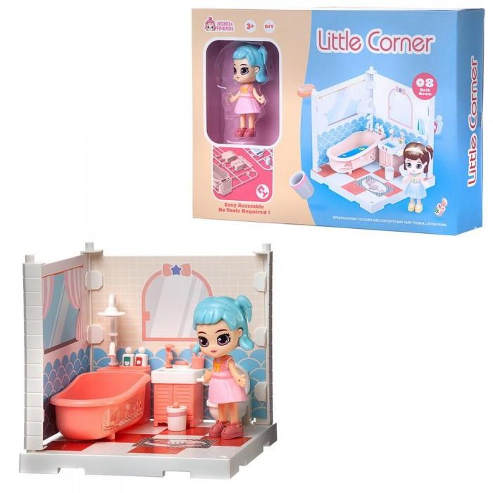 ABtoys Модульный домик Собери сам Мини-кукла в ванной комнате с аксессуарами