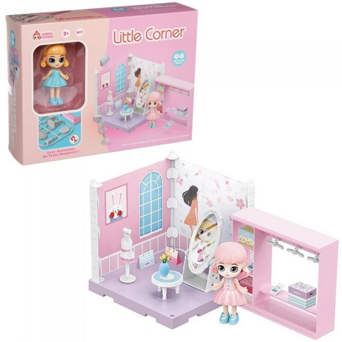 ABtoys Модульный домик Собери сам Мини-кукла в гардеробной комнате с аксессуарами