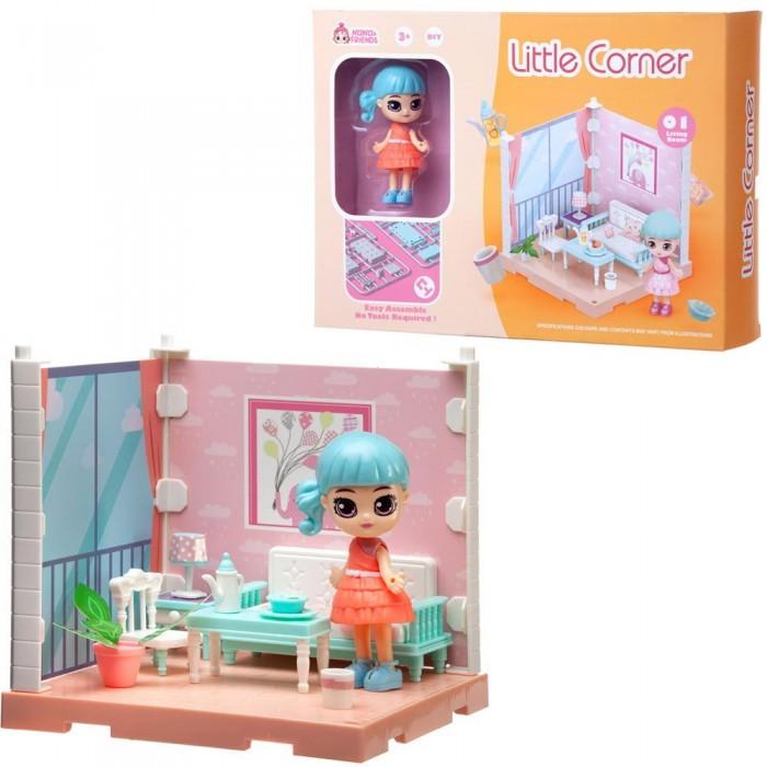 ABtoys Модульный домик Собери сам Мини-кукла в гостиной с аксессуарами