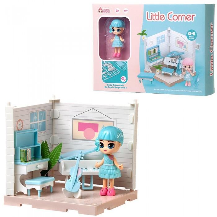 ABtoys Модульный домик Собери сам Мини-кукла в музыкальной комнате с аксессуарами