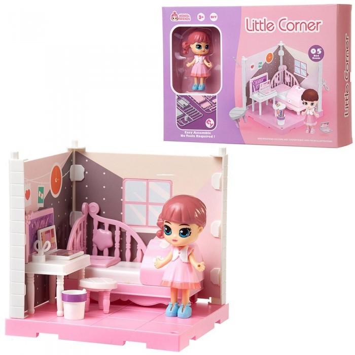 ABtoys Модульный домик Собери сам Мини-кукла в спальне с аксессуарами