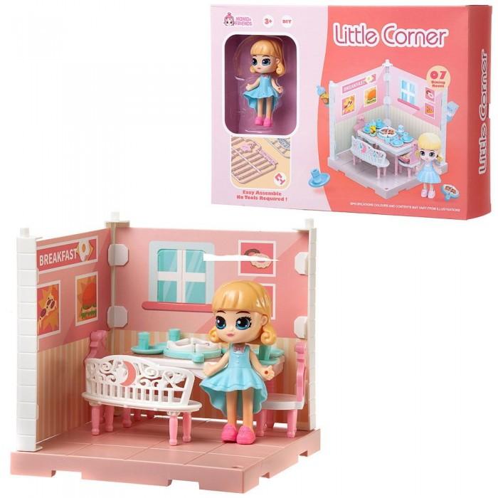 ABtoys Модульный домик Собери сам Мини-кукла в столовой с аксессуарами