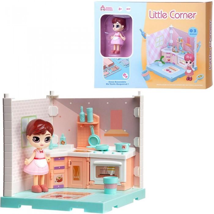 ABtoys Модульный домик Собери сам Мини-кукла на кухне с аксессуарами