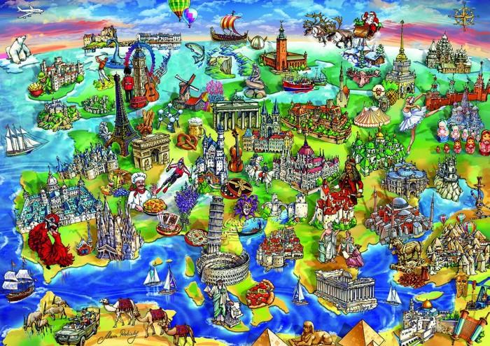 Пазлы Educa Пазл Европейский мир 1000 деталей educa пазл пекарня