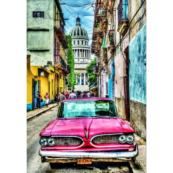 Пазлы Educa Пазл Винтажное авто в старой Гаване 1000 деталей
