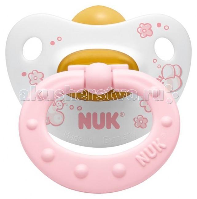 Пустышки Nuk ортодонтическая латексная Baby Rose, размер 1 (0-6 мес.) bebe confort пустышки латексные classic dummies 6 12 мес 2 шт