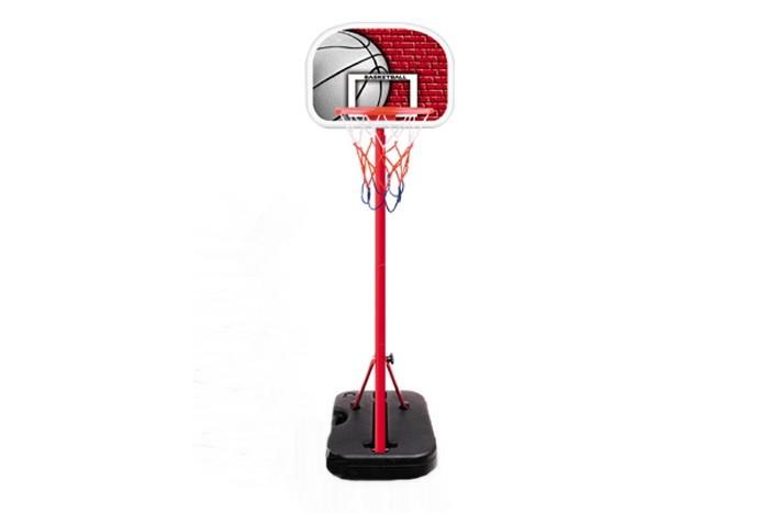 KingSport Детская баскетбольная стойка мини 116 смДетская баскетбольная стойка мини 116 смДетская баскетбольная стойка мини 116 см  Баскетбольный набор, в комплект поставки входит: Стойка наполняемая - 1 Щит баскетбольный - 1 Корзина баскетбольное - 1 Мяч - 1 Насос - 1  Хорошее настроение в неограниченных количествах  Размер баскетбольного щита - 330 x 406 мм<br>