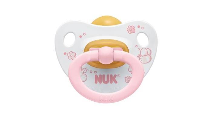 Пустышки Nuk ортодонтическая латексная Baby Rose, размер 2 (6-18 мес.) пустышки nuk ортодонтическая латексная baby rose размер 1 0 6 мес