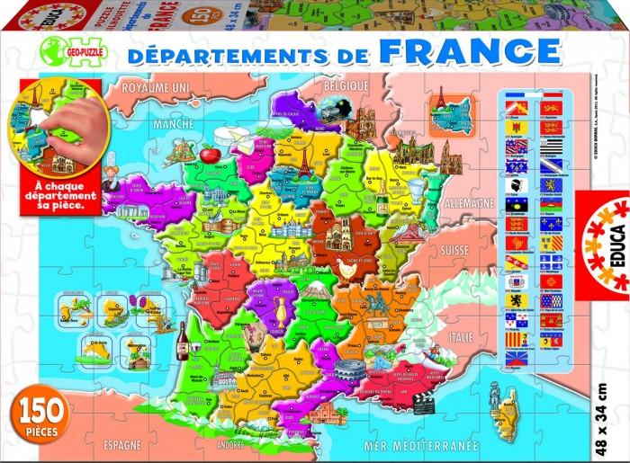 Пазлы Educa Пазл Департаменты Франции 150 деталей пазлы educa пазл магазин сладостей 1500 деталей