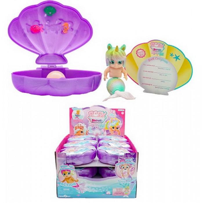 HeadStart Куколка-русалка в ракушке Baby Secrets Merbabes 78060