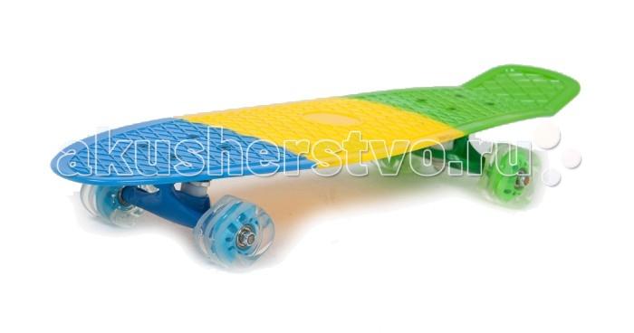 """Moove&Fun Скейт пластиковый 27х8"""" с колесами Monster от Акушерство"""