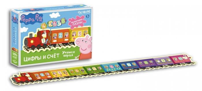 Настольные игры Origami Peppa Pig Настольная игра Паровозик Цифры и Счет origami пазл peppa pig семья пеппы 24 детали
