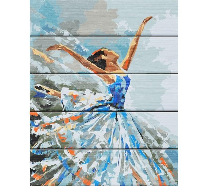 Картины по номерам Фламинго Рисование по номерам по дереву Балерина 50x40 см