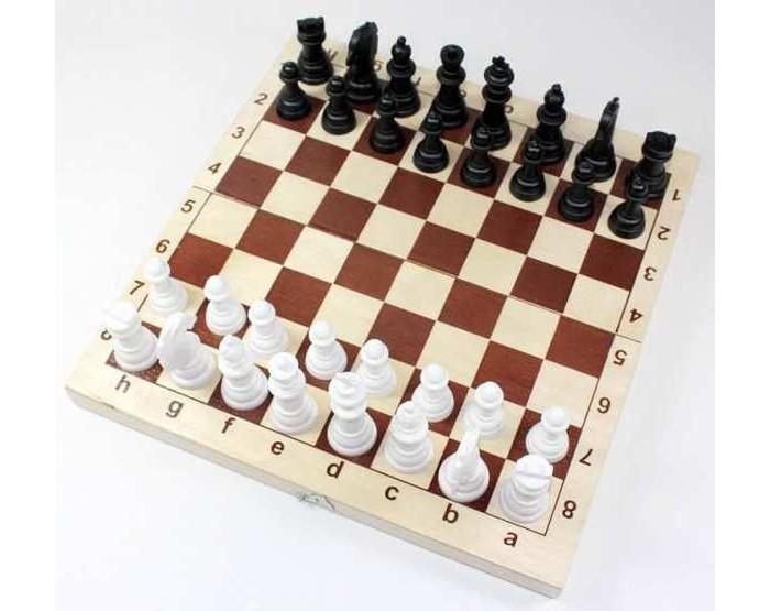 Настольные игры Десятое королевство Игра настольная Шахматы, пластмассовые фигуры в деревянной упаковке