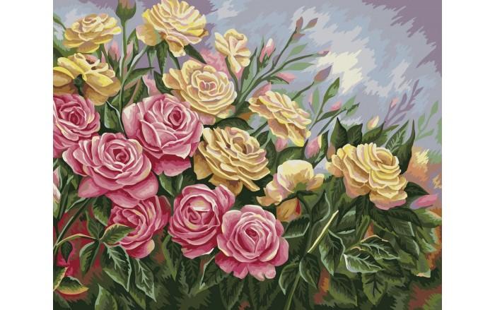 Купить Картины по номерам, Фламинго Рисование по номерам по дереву Розы Жанна Когай 50x40 см