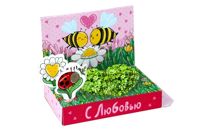 Наборы для выращивания Happy Plant Подарочный набор Живая открытка С любовью! умные часы apple watch series 3 38mm gold with pink sand sport band mqkw2ru a