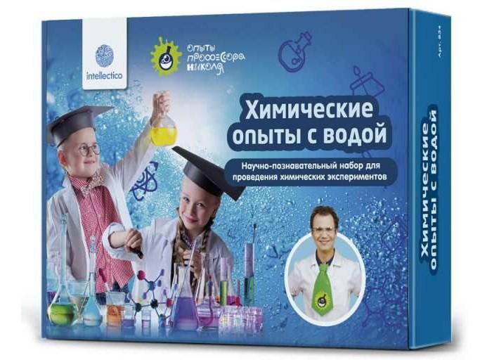 Картинка для Наборы для опытов и экспериментов Intellectico Набор для опытов Химические опыты с водой