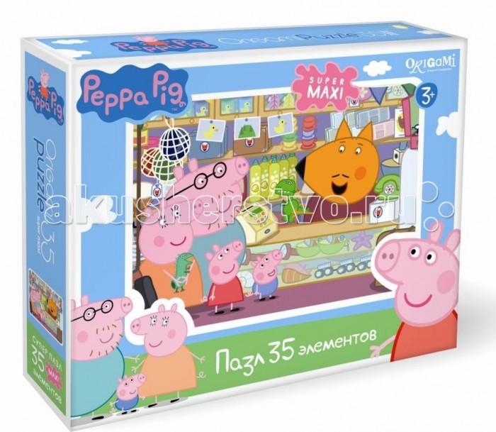 Пазлы Origami Peppa Pig Пазл Сувенирная лавка (35 элементов) peppa pig пазл супер макси 24a контурный магниты подставки семья кроликов