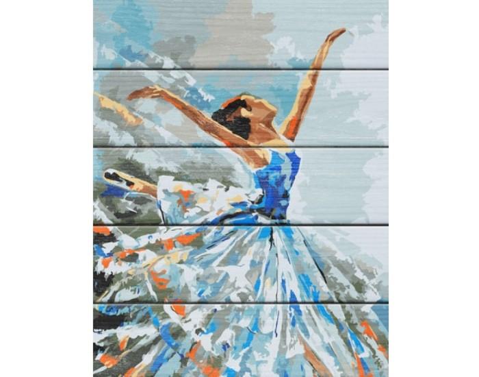 Картины по номерам Дали Арт по дереву Балерина 50x40 см