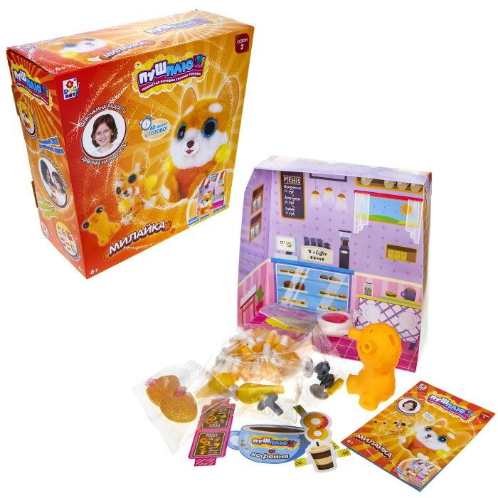Наборы для творчества 1 Toy Пуш-Плюш Набор для творчества Милайка