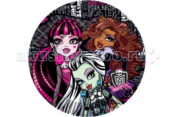 Товары для праздника Olala Тарелка бумажная Страшно красивые Monster High 23 см 10 штук товары для праздника olala салфетки barbie двухслойные 20 штук