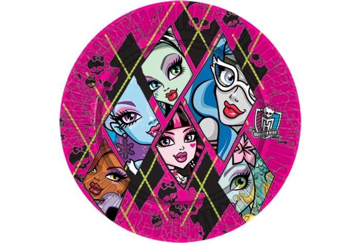 Товары для праздника Olala Тарелка бумажная Monster High 23 см 10 штук видеопроектор мультимедийный nec np m363wg