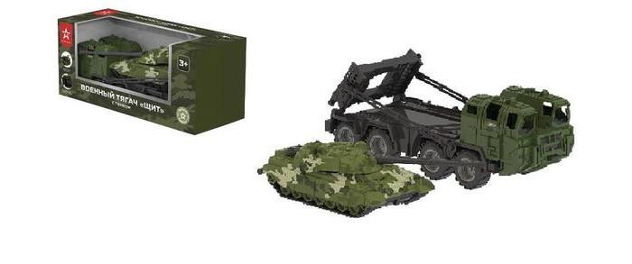 Игровые наборы Нордпласт Тягач военный Щит с танком
