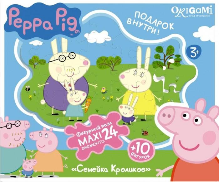 Пазлы Origami Peppa Pig Пазл Супер-макси Семья кроликов (24 элемента)