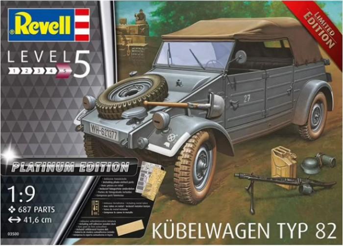 Фото - Сборные модели Revell Сборная модель Германский автомобиль Kubelwagen Typ 82 Platinum 1:9 сборная модель revell ah 64 apache 06631 1 100