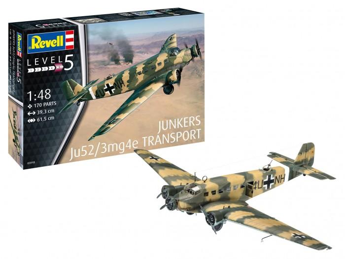 Фото - Сборные модели Revell Сборная модель Самолёт Junkers Ju52/3m Transport 1:72 сборная модель revell ah 64 apache 06631 1 100