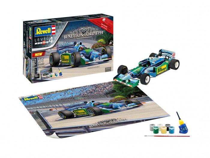 Фото - Сборные модели Revell Сборная модель Автомобиль Benetton Ford B194 1:24 сборная модель revell ah 64 apache 06631 1 100