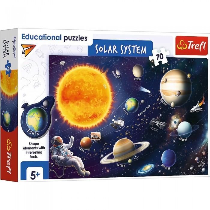 Пазлы Trefl Пазлы Солнечная система (70 элементов) набор пазлов trefl красивая минни 34119